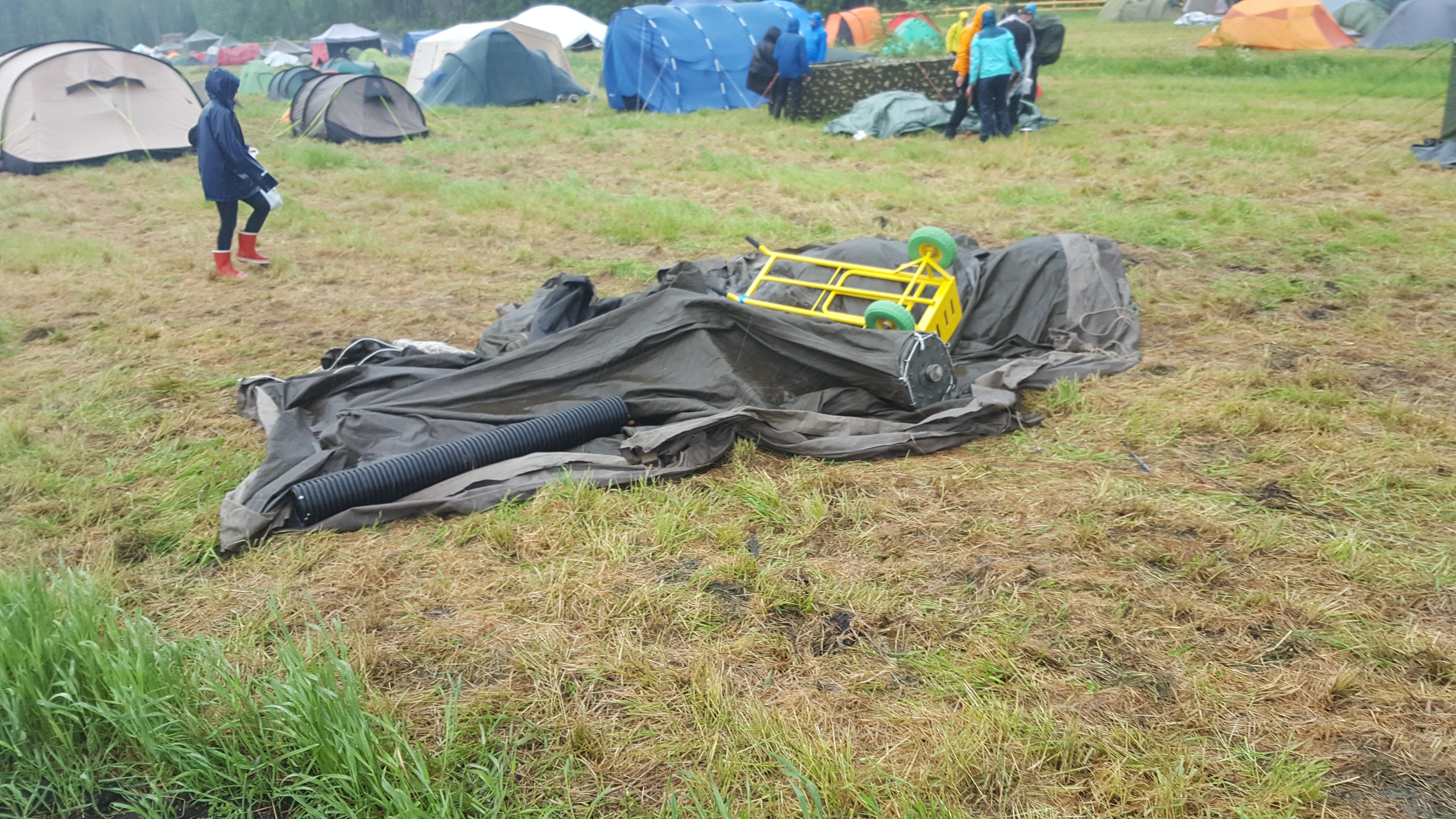 Jukola 2016, teltta maassa